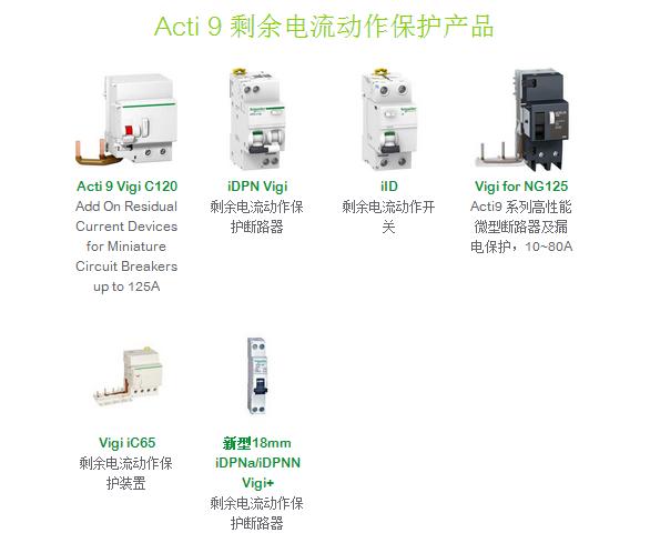 Acti 9 剩余电流动作保护产品