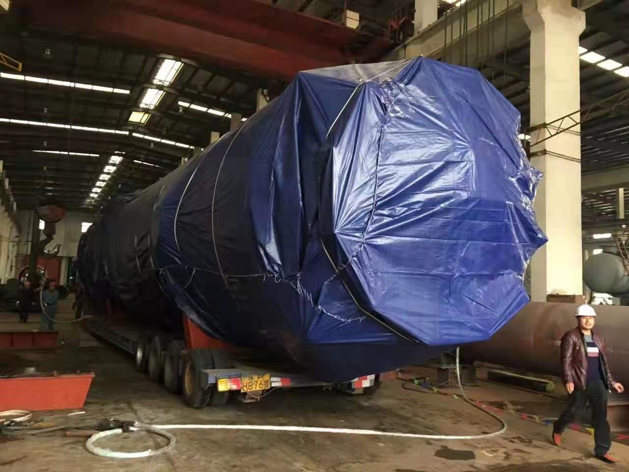 5.7米宽货物装车中