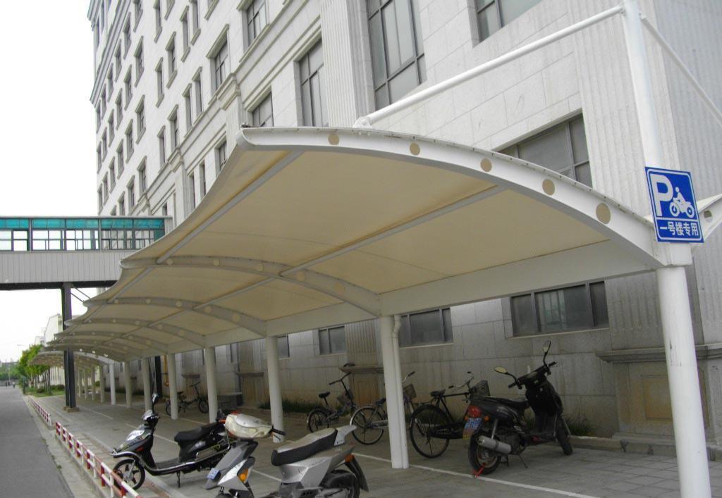 膜结构自行车棚