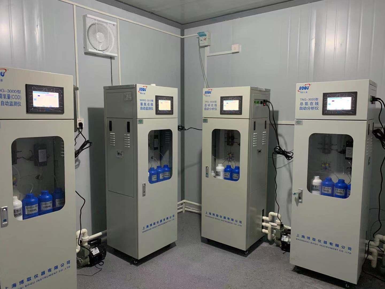 上海松江某化工厂安装水质监测设备一套 COD 氨氮 总磷 总氮 PH 等参数