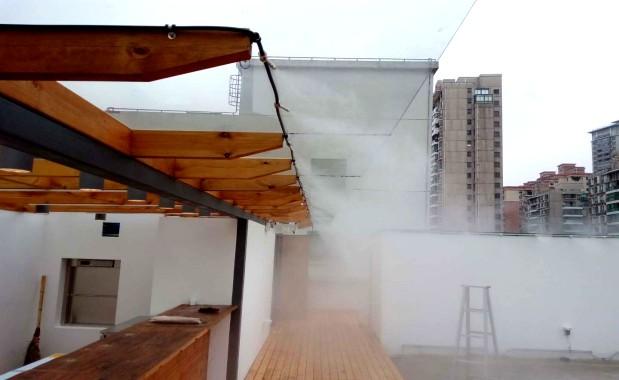 上海砼谷露天餐厅贝斯特全球最奢华网页雾/贝斯特全球最奢华网页降温系统案例