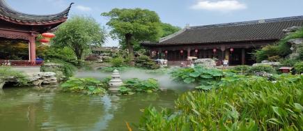 云雾缭绕,轻如丝绢,上海砼谷雾森系统,开启空气净化模式