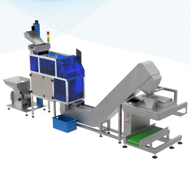 軌道垂直提升機+視覺數粒機+鴨嘴提升機+筒膜包裝機