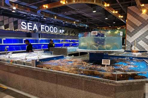 超市海鲜池