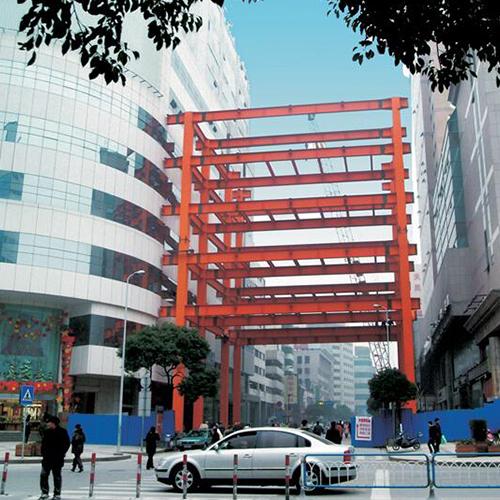 无锡商业大厦复兴路过街连廊钢结构