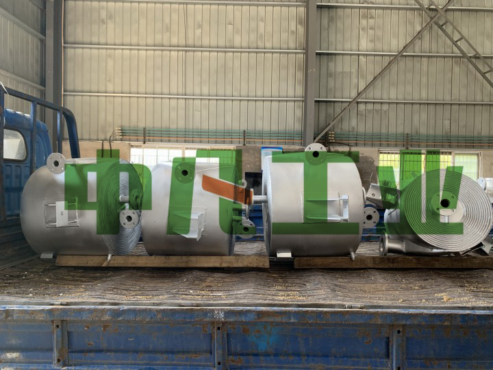 内蒙古海南工业园区螺旋板式冷凝器顺利交付
