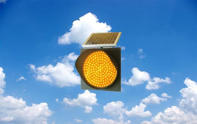 太阳能黄闪灯