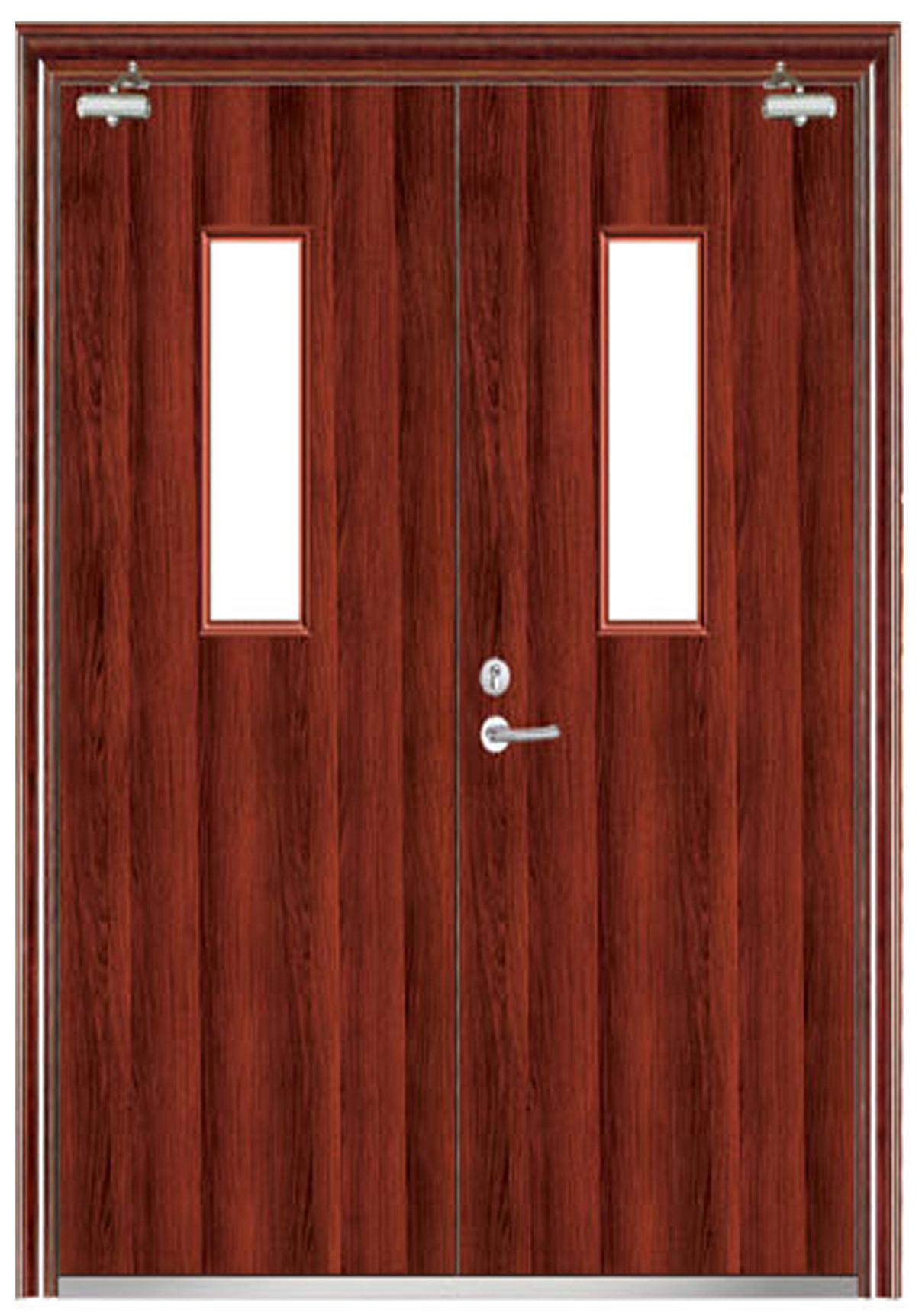 木质平板防火双开门