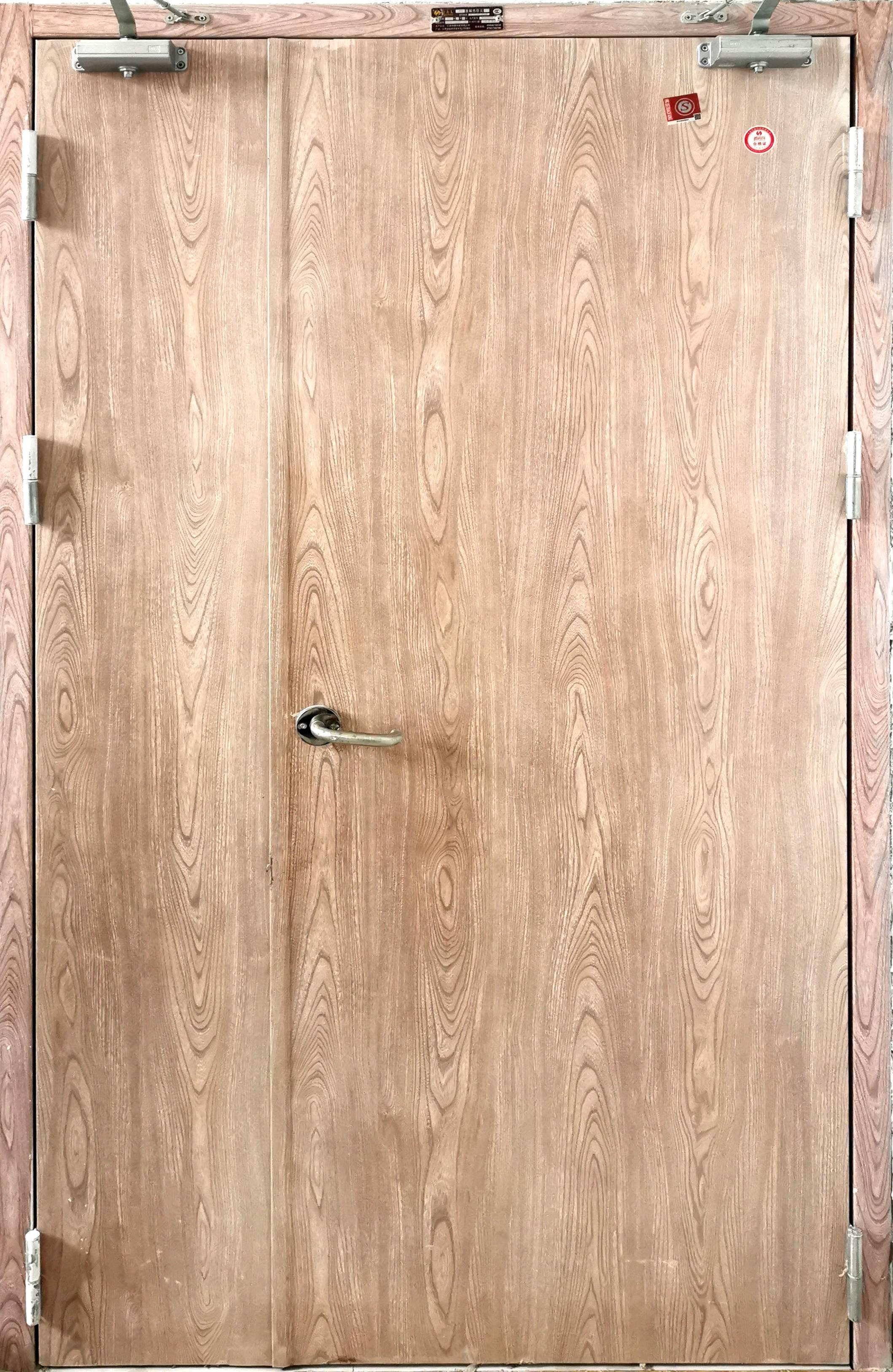 木纹转印子防火母门