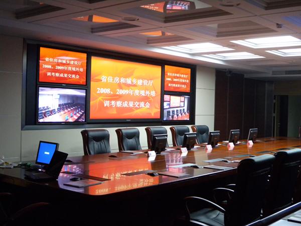 江苏省住房和城乡建设厅视频会议系统采用睿观博MHD-3636S按键板高清混合矩阵