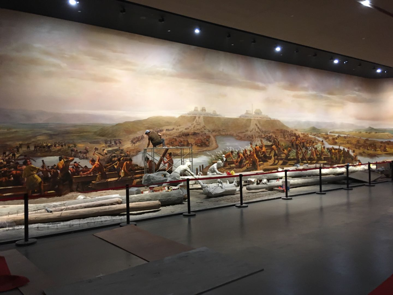 良渚博物院采用观博光纤收发器来传输高品质巨幅视频画面