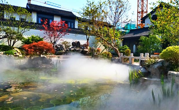 义乌庭院景观水池水景人工造雾.贝斯特全球最奢华网页造景案例