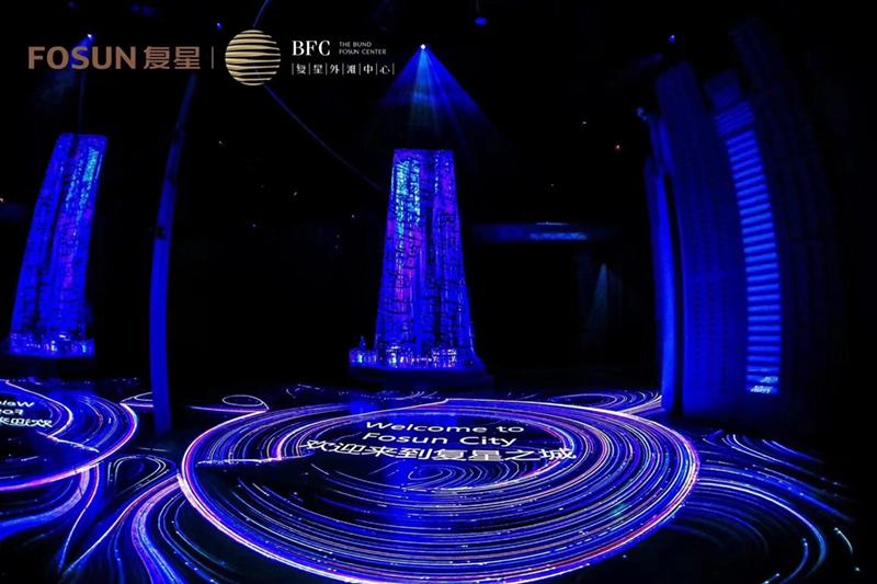 武汉复星外滩中心营销中心采用睿观博品牌光纤传输延长器和光纤线