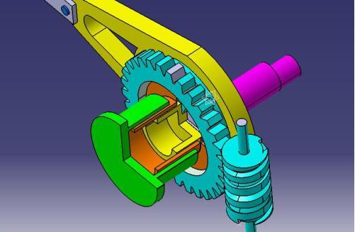 计量泵冲程调节三维模拟图