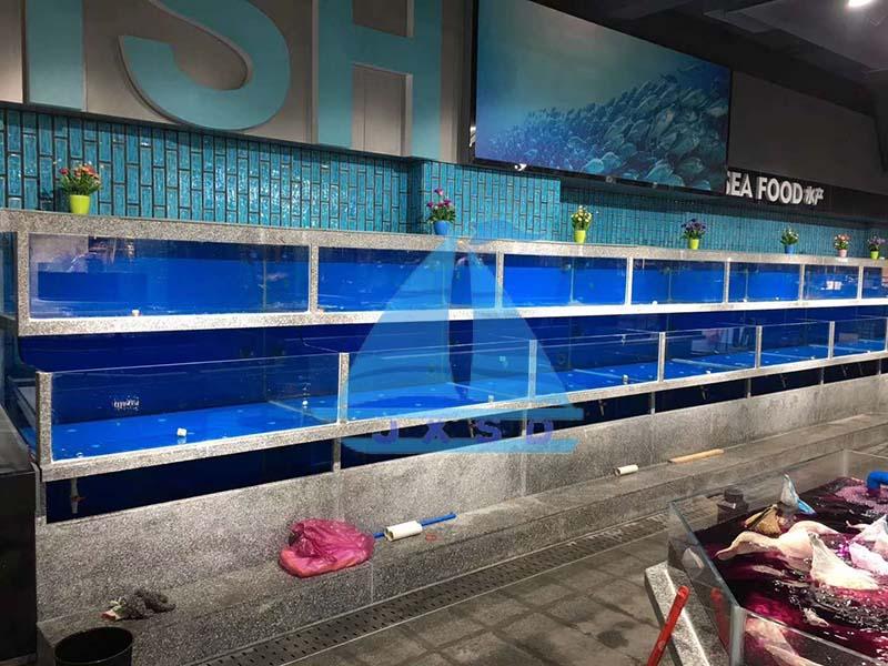 崇州邻里超市水产海鲜池工程照.jpg