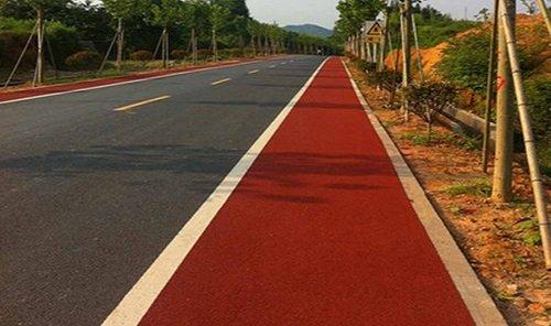 氟硅石彩色路面