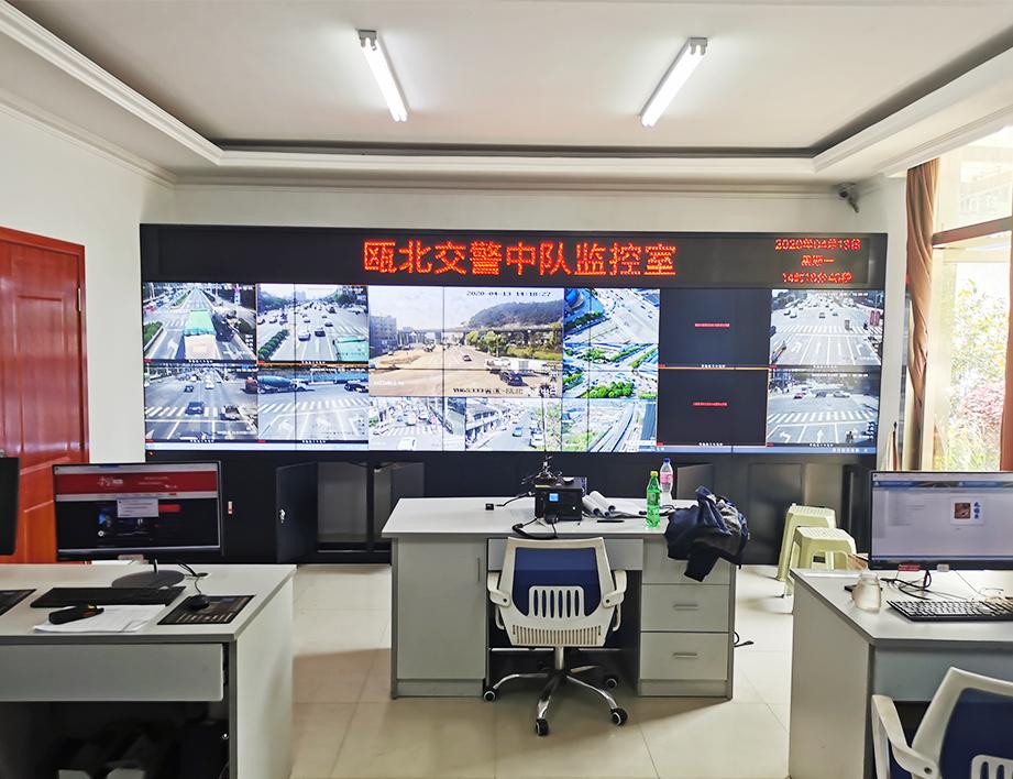 瓯北交警中队中控室