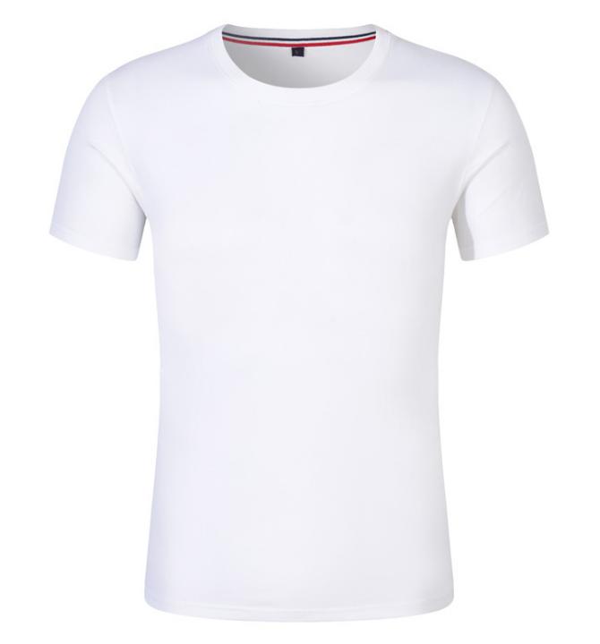 夏季圆领T恤衫 短袖T恤 纯色体恤 可印制班服 必威app下载工作服 空白文化衫 纯棉T恤