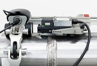 带柔性涡流阵列探头的不锈钢焊接表面检测