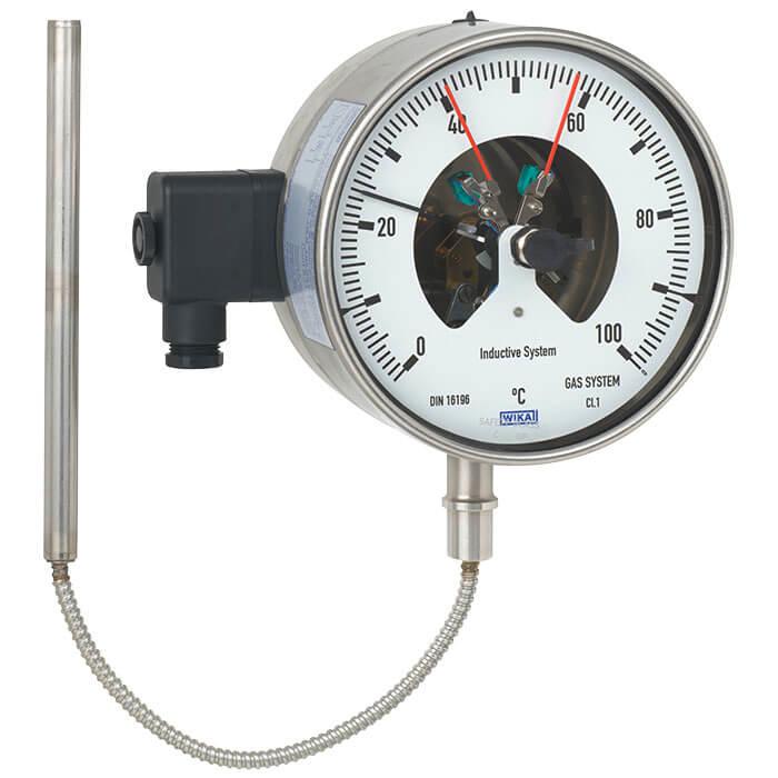 WIKA威卡A43/A46/A48/A50/A52/R52/55/TG53/TG54双金属温度计TGS55电接点温度计