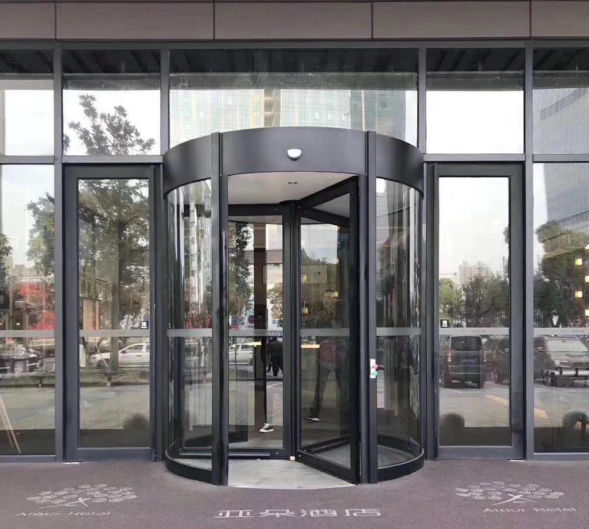 旋轉玻璃感應門