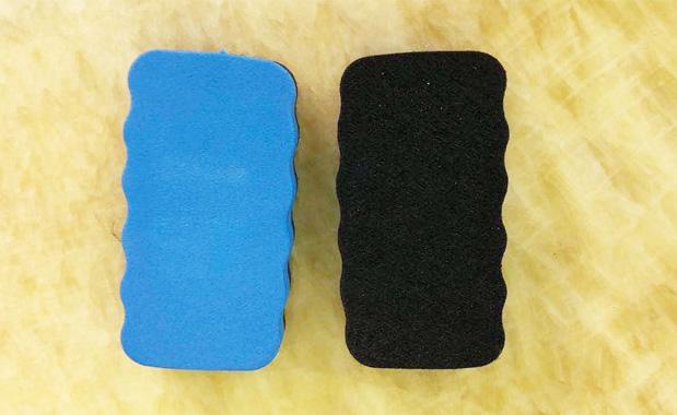 蓝色EVA黑板擦