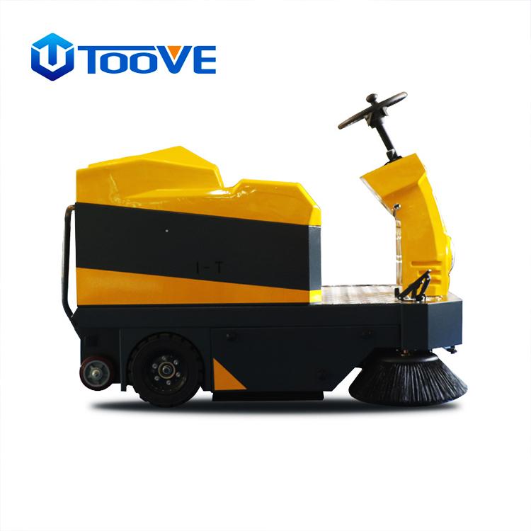 拓威克 TS1500带顶棚驾驶式全自动扫地机 工厂电动吸尘环保扫地车 可喷水