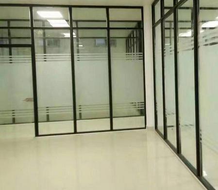 玻璃门出厂价 思念溪成品玻璃隔断墙
