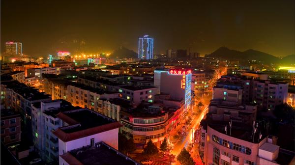 安顺市普定南城夜景照明项目案例