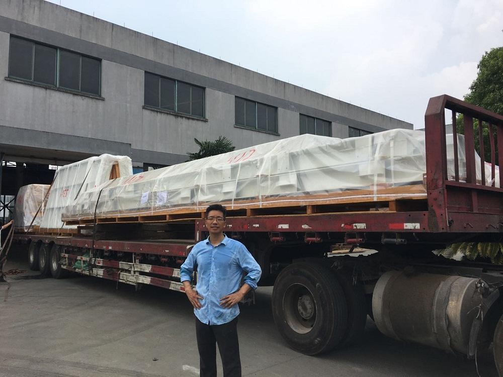 嘉兴鼎实机械焊接平台发货港口现场