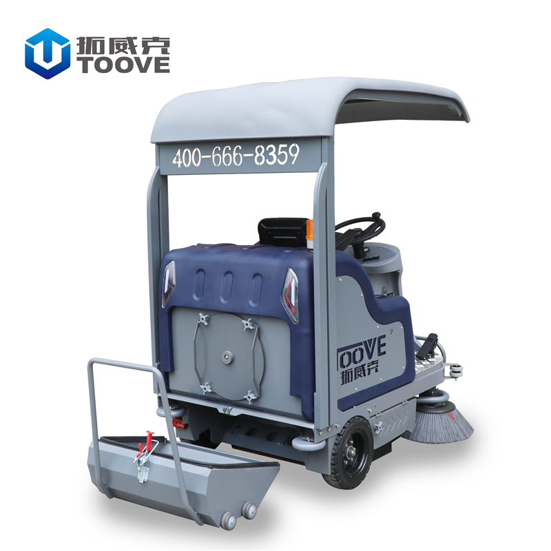 TS-1480半封闭带顶栅驾驶扫地机 户外环卫道路电动清扫车