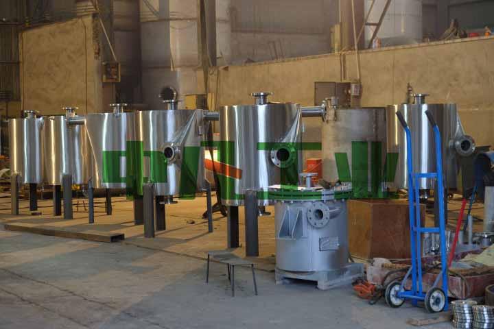 中凡工业1型不可拆式40平304螺旋板式换热器