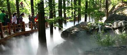 假山景观贝斯特全球最奢华网页雾系统.静与动的完美结合