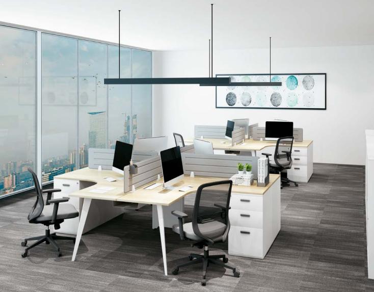 四人组合办公桌,组合办公桌厂家-AC-01