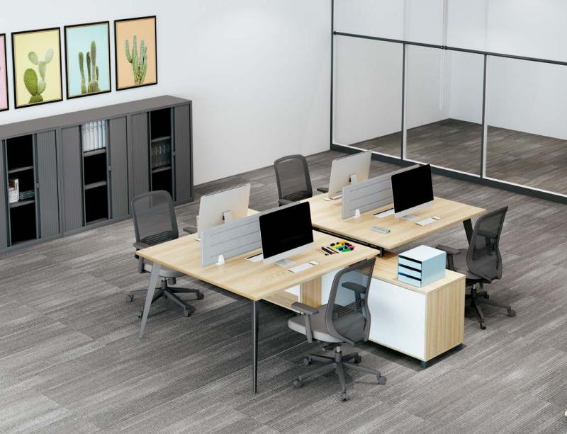 四人板式办公桌,板式办公桌厂家-AB-04