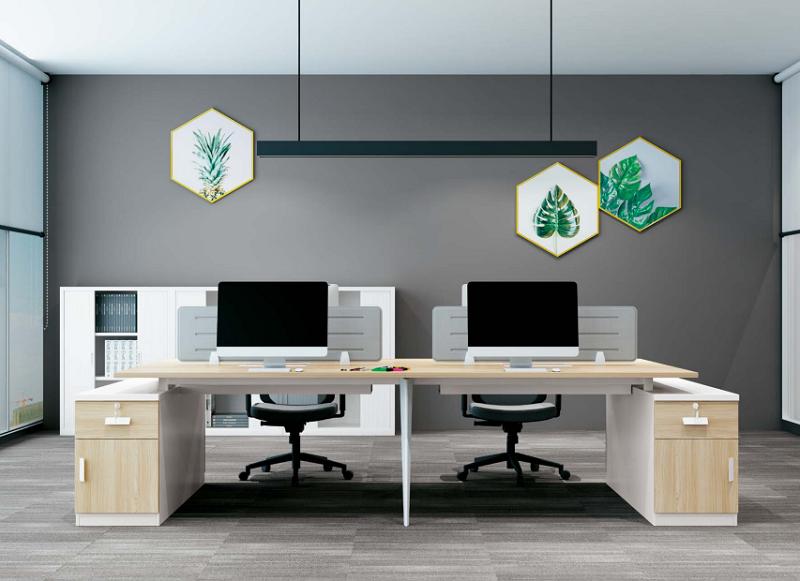 双人板式办公桌,板式办公桌厂家-AB-06