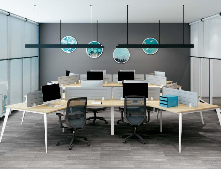 六人异性办公桌,异性办公桌厂家-AC-02