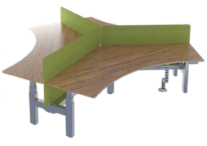 异性升降办公桌,异性升降办公桌厂家-AE-02