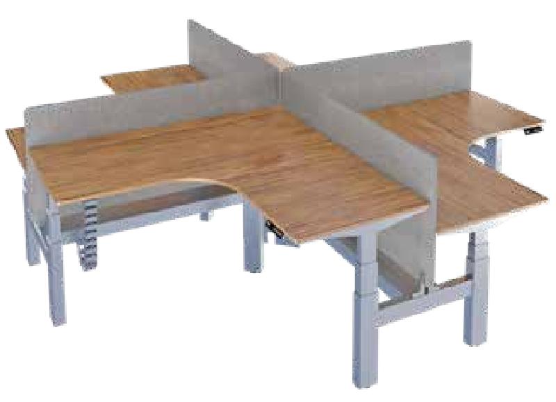 四人升降办公桌,升降办公桌厂家-AE-03