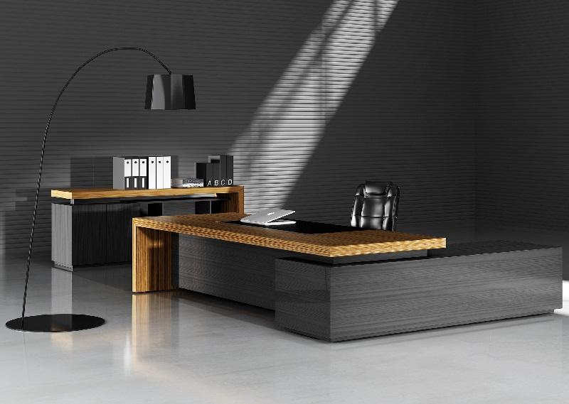 班台厂家直销老板办公桌实木大班台-CB-05