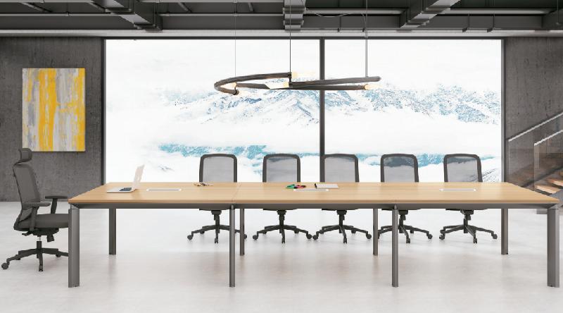 会议桌厂家板式会议桌实木会议桌定制-EB-01