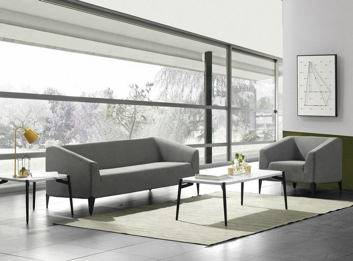 办公室沙发茶几,办公沙发定制厂家-FA-04