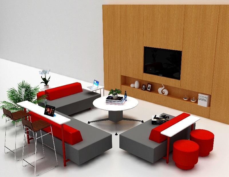 休闲区沙发凳,单人沙发凳-FC-04