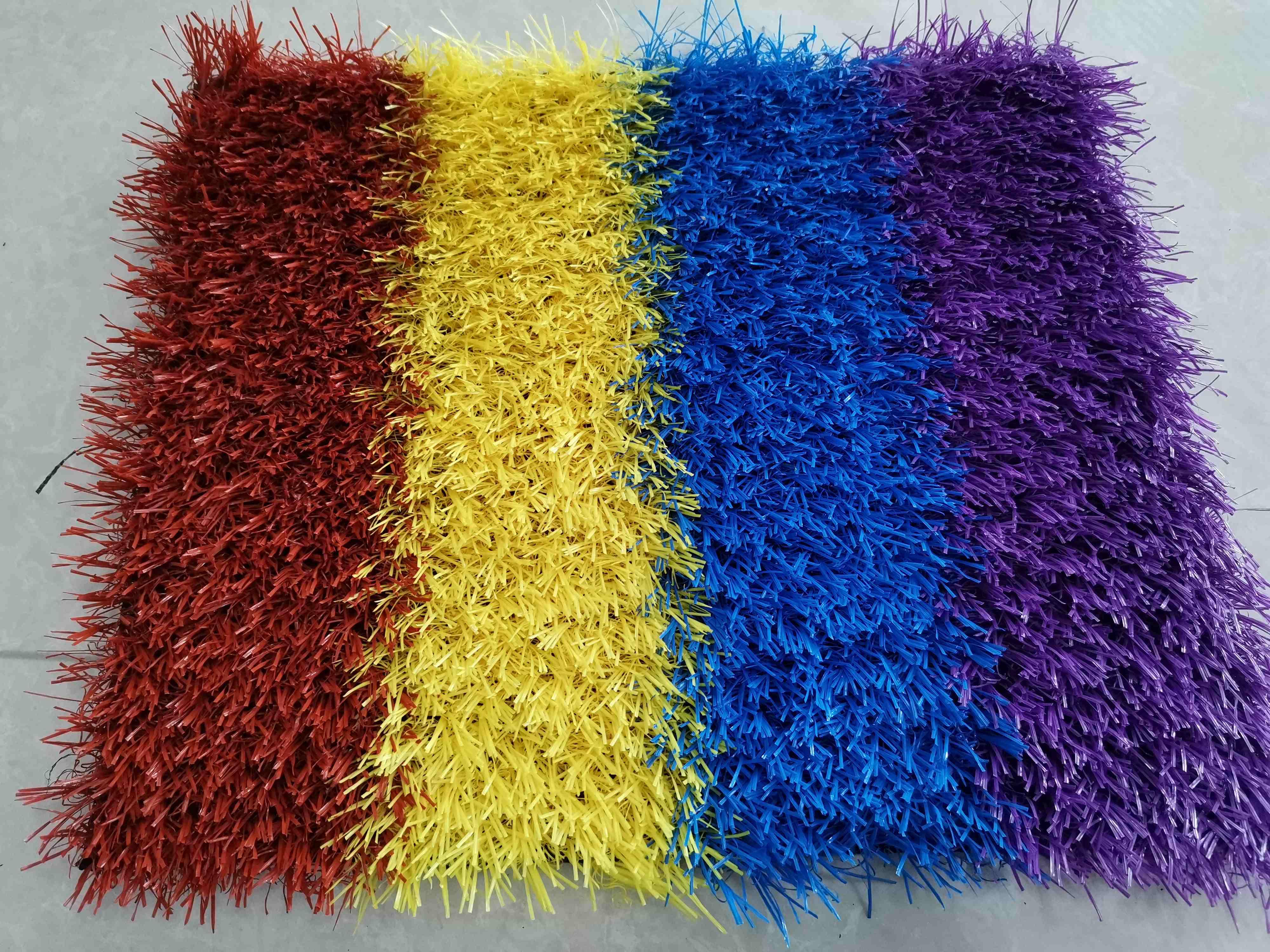 幼儿园彩虹跑道装饰草坪