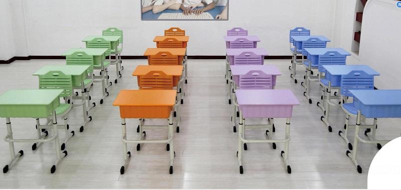 单人钢课桌椅课桌椅厂家直销单人课桌椅-JD-01