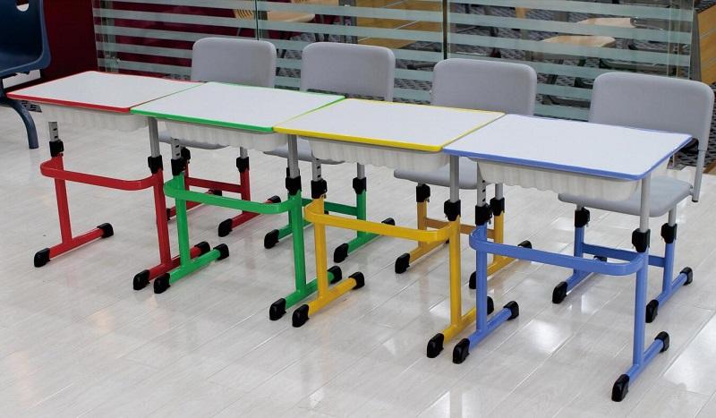 课桌椅批发小学生课桌椅定制厂家-JD-05