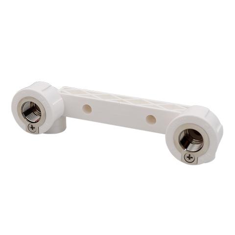 PPR双联等电位内螺纹铜弯头 白