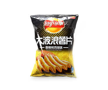 乐事大波浪薯片香脆烤鸡翅味