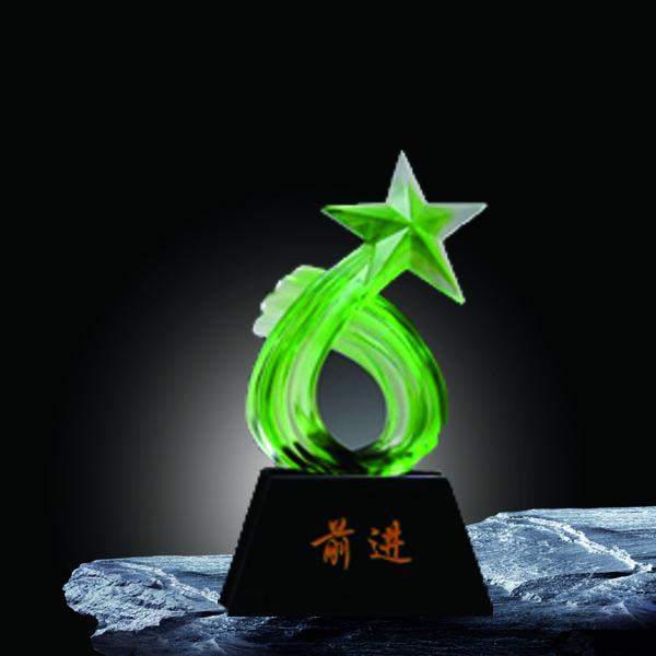 夏氏琉璃 SB-073 五星奖杯