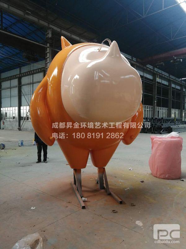 不銹鋼犀牛雕塑